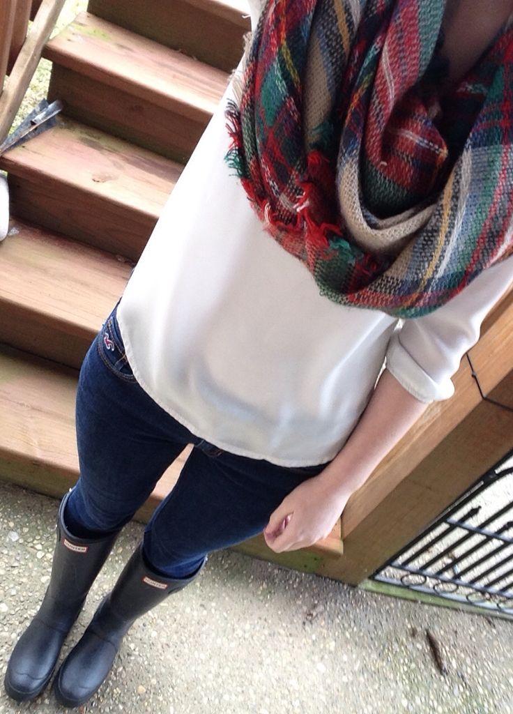 Hunter+blanket scarf