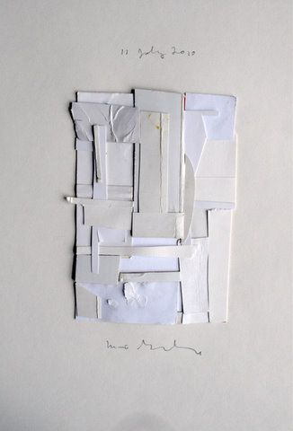 Love the white on white collage inspiration