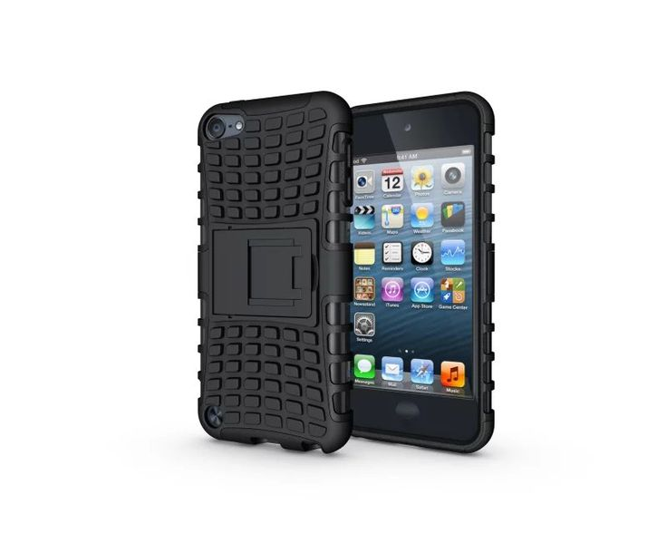 For Apple Ipod Touch 5 Touch 6 Case High Quality Hybrid Kickstand Rugged Rubber Armor Hard PC+TPU Stand Function Cover Cases