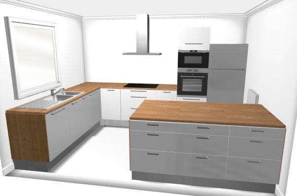 Plan cuisine l 13 recherche google maison des roses - Poubelle cuisine integrable ...