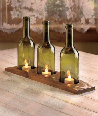 LED Candle Wine Bottle Trio