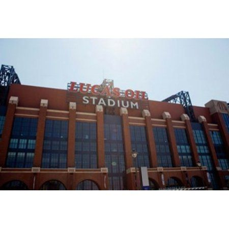 Facade of the Lucas Oil Stadium Indianapolis Indiana Canvas Art - Panoramic Images (18 x 12)