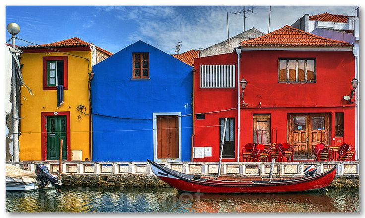 Colorful houses in Aveiro