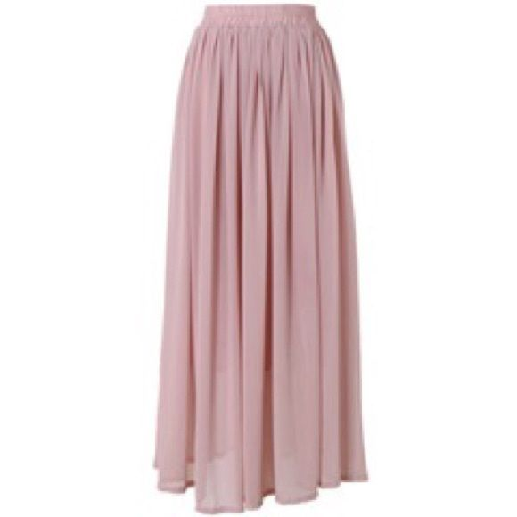 pale pink maxi skirt outfitters skirts