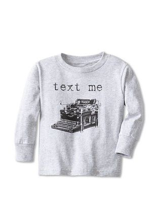 67% OFF Little Dilascia Kid's Text Me Maybe Long Sleeve Tee (Grey)