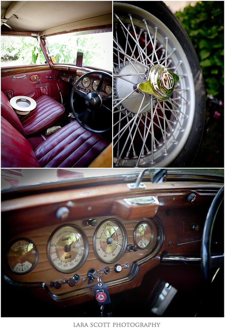 Red MG vintage car, Bon Cap Robertson