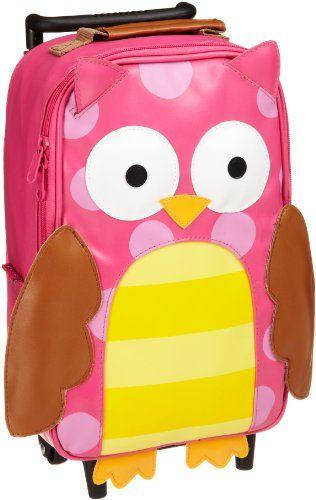 Stephen Joseph Little Girls'  Little Girls'  Rolling Backpack, Owl, One Size