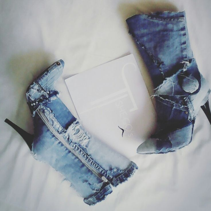 Diy denim winter boots by Tshego