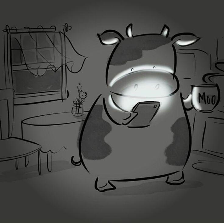 "68 Likes, 7 Comments - Priscilla Burris (@priscilladesign) on Instagram: ""A cow and her morning moo. #cows #coffee #illustratorsoninstagram #cowsoninstagram…"""