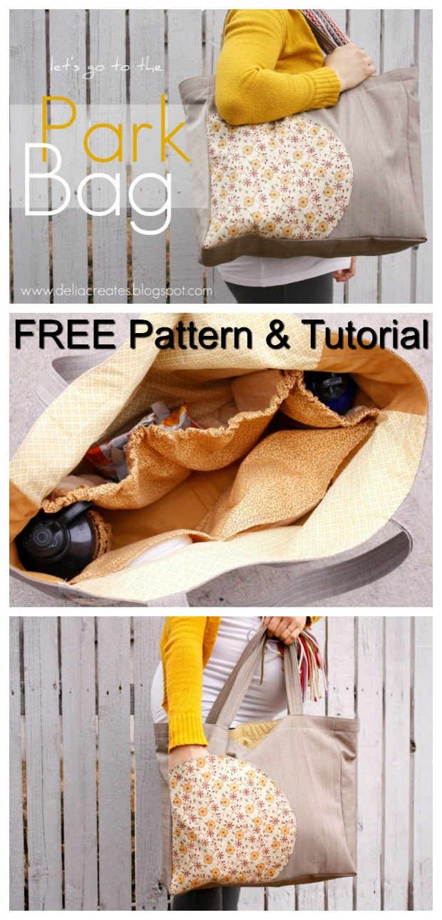 Let's go to the park bag – FREE pattern & tutorial