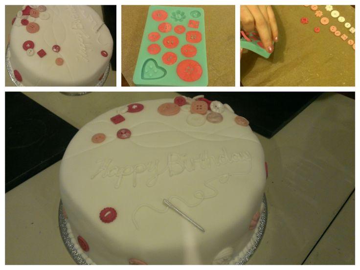 Button Birthday Cake