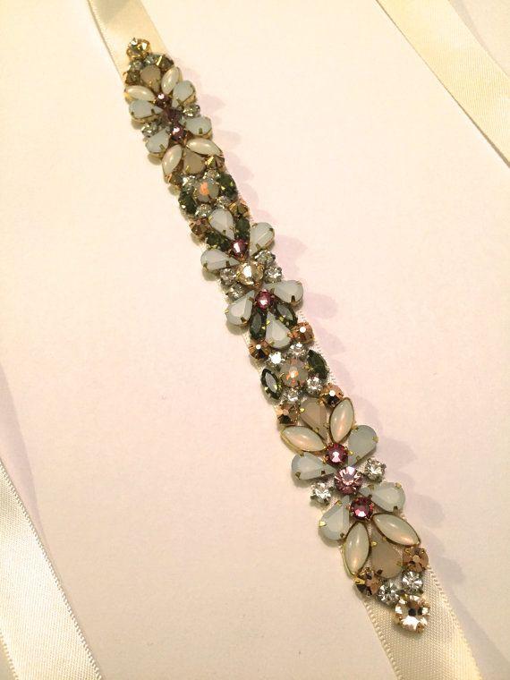 Orné de cristal Floral romantique en or Rose Olive