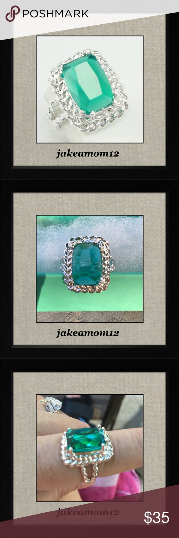❤️HOST PICK❤️Green topaz ring Gorgeous green topaz Sterling silver ring Jewelry Rings