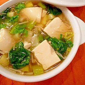 とろとろ豆腐の★熱々!中華スープ。