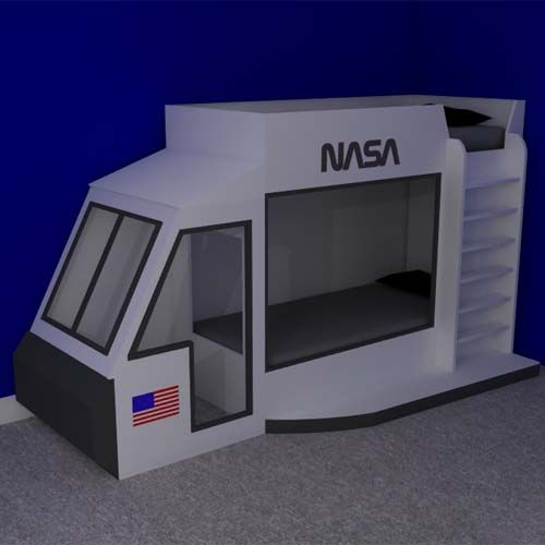 Space Shuttle Bunk Beds - BDI Children's Themed Furniture