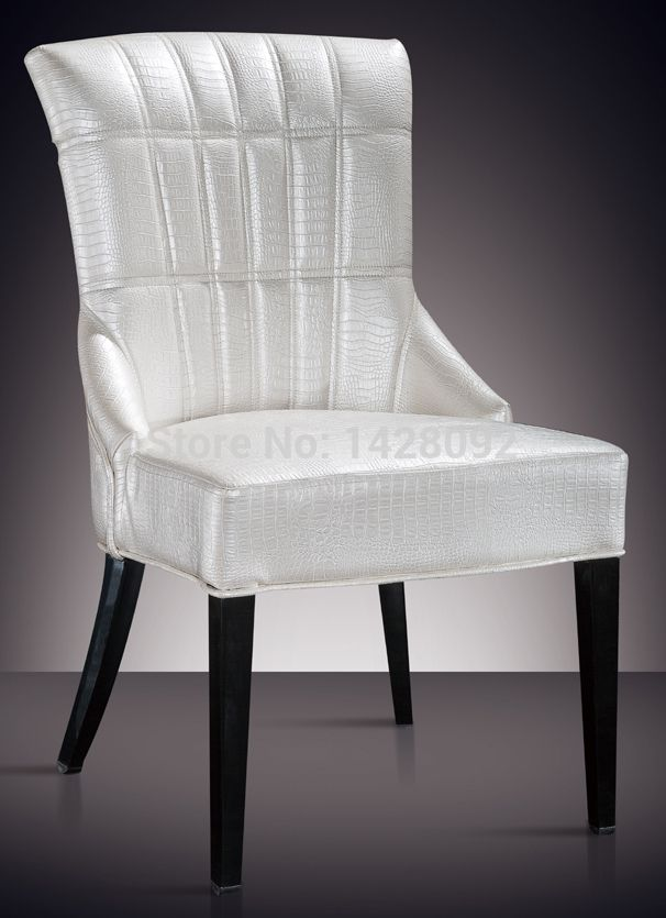 Europejski i amerykański styl wygodne białe tapicerowane jadalnia krzesło lq-l8976