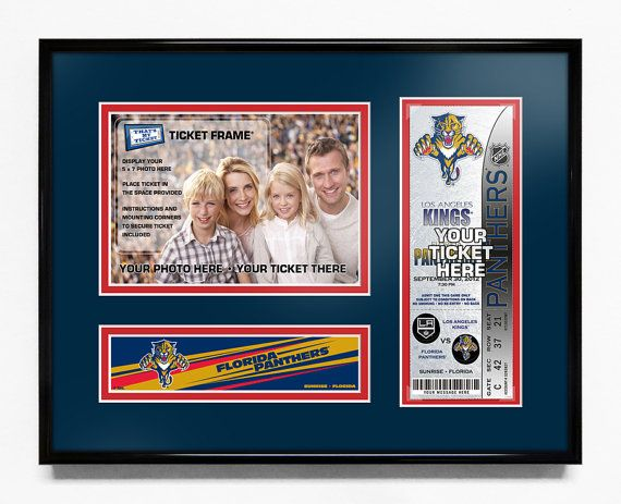 Florida Panthers 5x7 Photo and Ticket Frame - Team Logo / My First Game