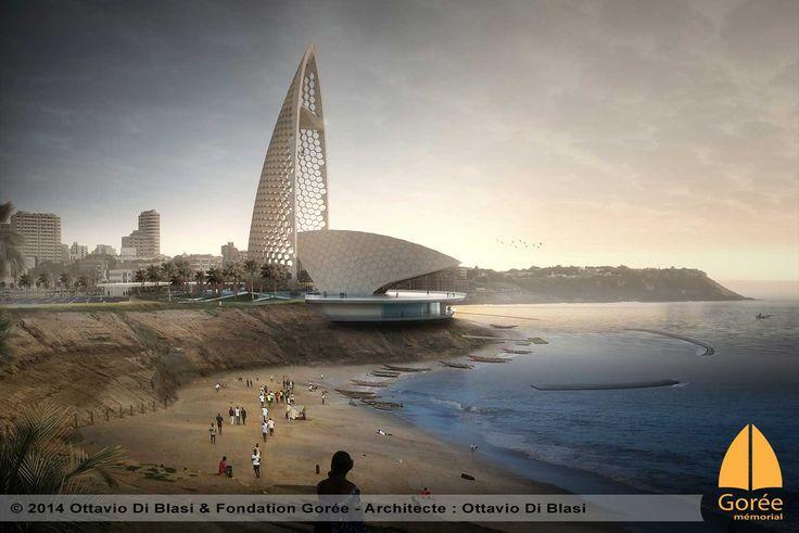 Le mémorial de Gorée à Dakar vue de la corniche Ouest par Ottavio Di Blasi - www.memorialdegore.org