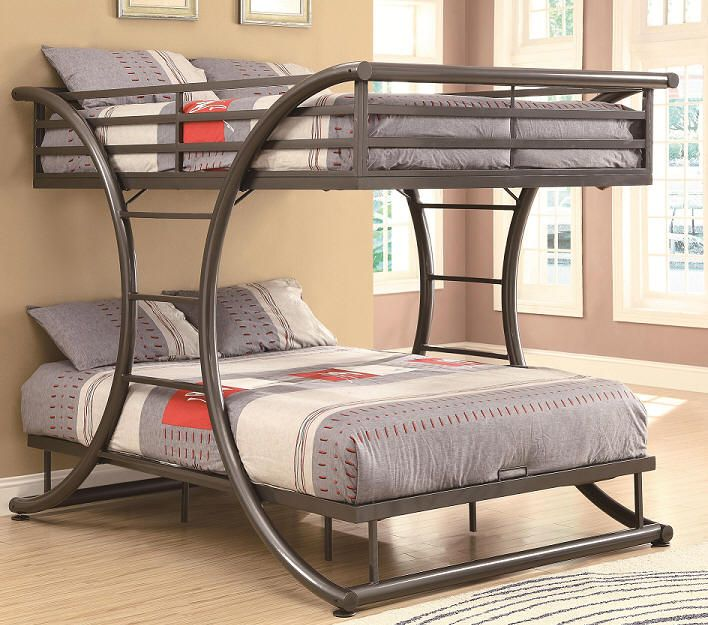 Belden Full Over Bunk Bed Is Both Fun And Stylish The Gunmetal Finish