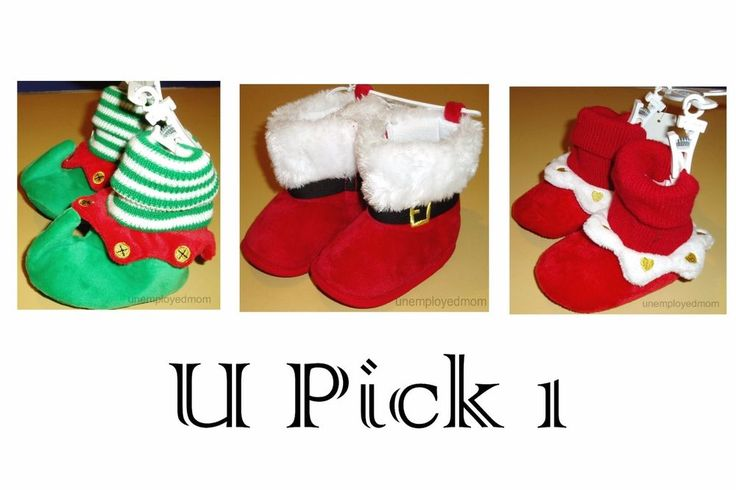 Christmas Shoes Boots Slippers Crib Baby Boys Soft Sole Footwear Costume dressup #KoalaKids #Slippers