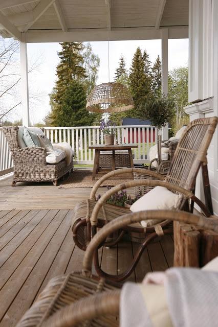 It's a house inredningsblogg - en amerikansk veranda