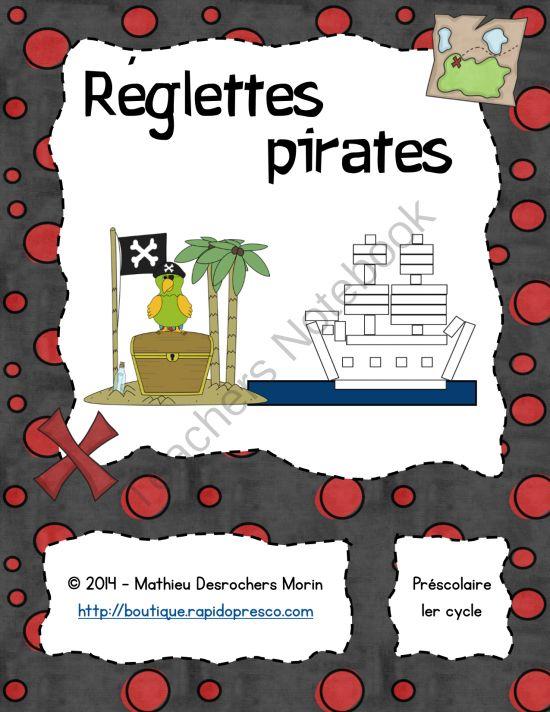 R�glettes pirates (atelier) from Matthew Morin on TeachersNotebook.com -  (13 pages)  - Voici un jeu de r�glettes sur le th�me des pirates dans lequel l�enfant doit compl�ter les illustrations avec les r�glettes cuisenaire appropri�es (motricit�, approximation de la taille, etc.)