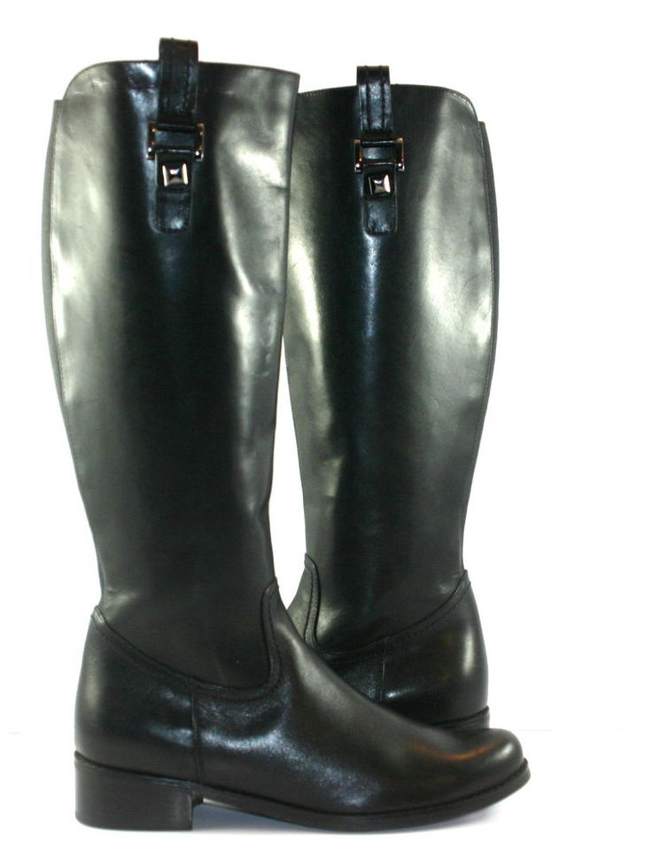 Blondo Model B5125-11 Black Leather Tall Riding Boots Womens Size US 8M  #Blondo #Boots #Casual