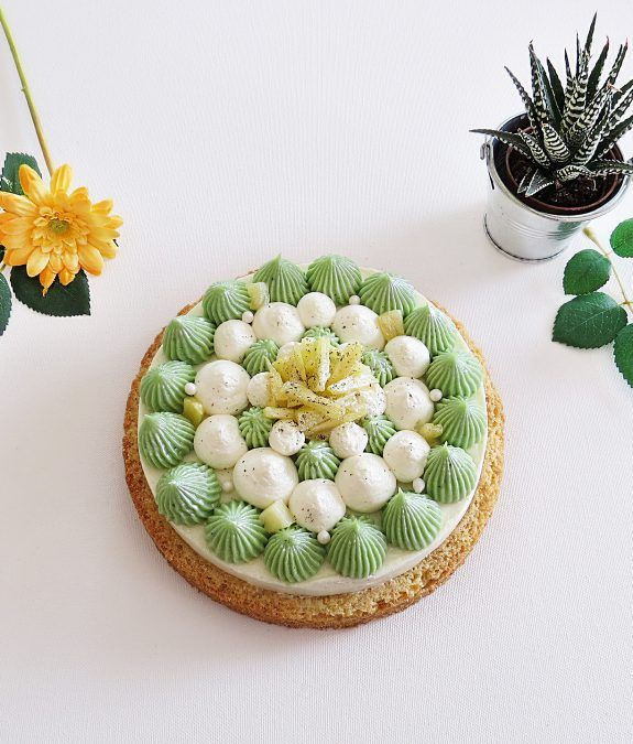 Cheesecake ananas et citron vert dans l'esprit d'un Fantastik