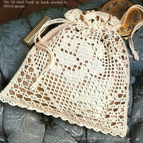 purse pattern crochet | Filet Crochet Victorian Rose Purse Pattern | BeadedBundles ArtFire ...