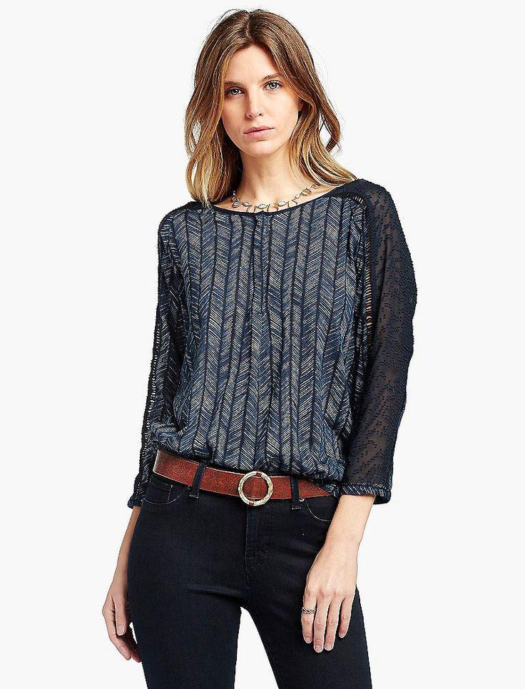 Lucky Brand Modern Herringbone Shirt Womens