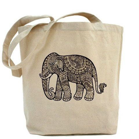 Cotton tote bag, Ecobag, personalized tote, Wholesale tote bag, tote, friendly eco bag - Tribal elephant on Etsy, $10.50