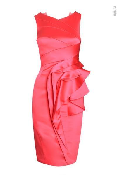 Малиновое платье от karen millen