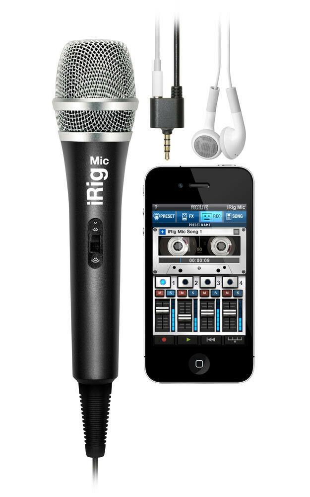 iRig Mic Handheld Microphone for IOS and Android Phones via App