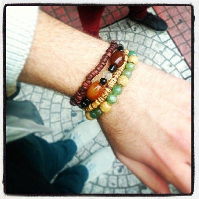 Men's bracelets! Δείτε όλα τα στυλ για ανδρικά βραχιόλια εδώ: http://thestylecube.weebly.com/style/mens-bracelets  Photo credit: http://instagram.com/giannisoik