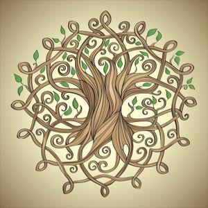 Кельтские Древо Жизни татуировки