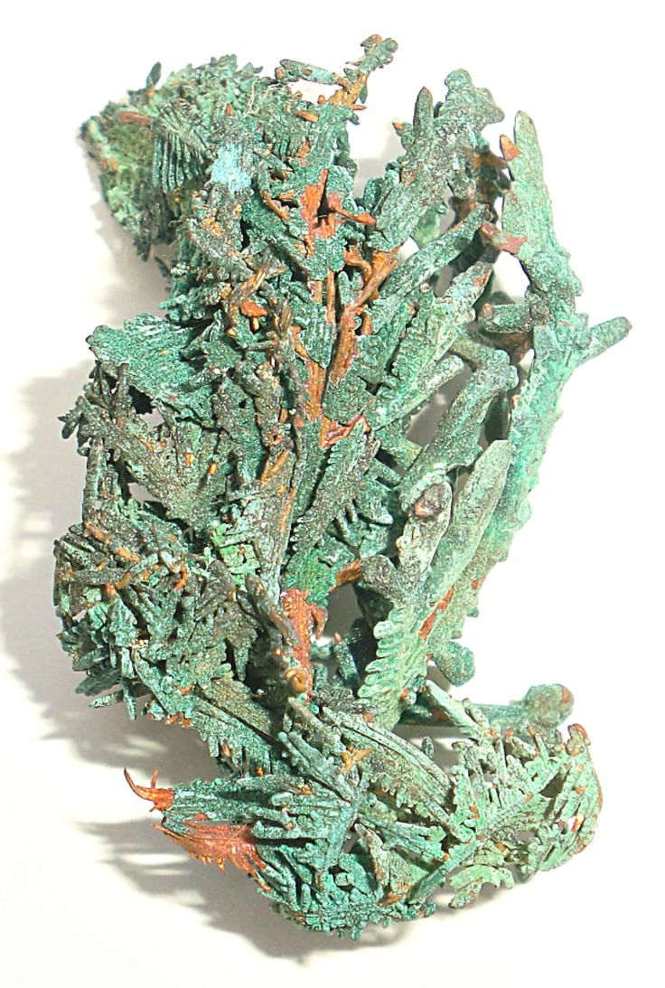 """This crystalline native copper is from the BHP Mine, Broken Hill, New South Wales, Australia.  It is 1 3/4"""" tall.  See more at www.bluemelon.com/exclusiveminerals"""