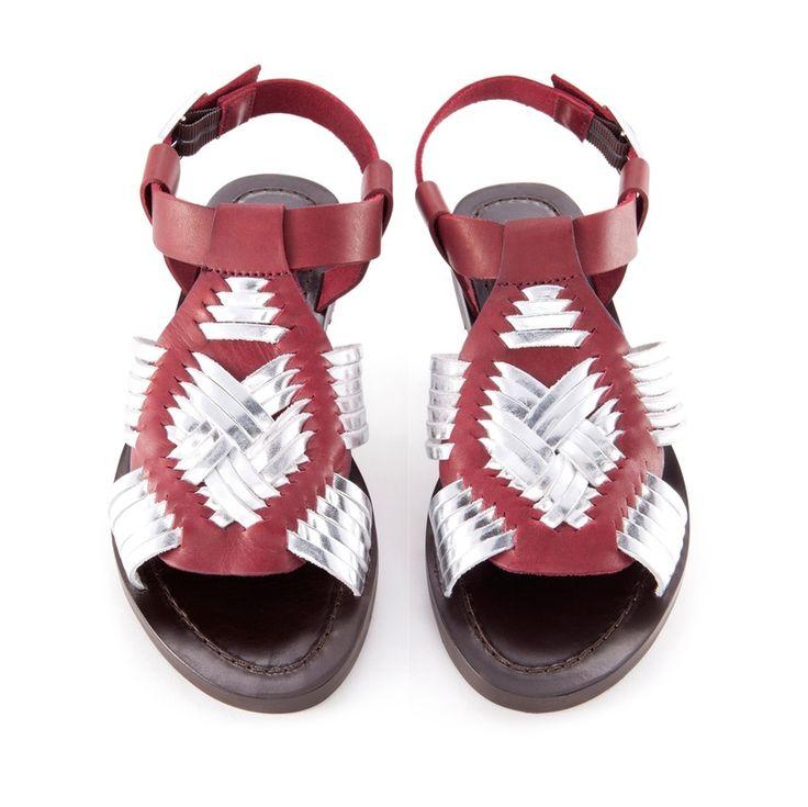 Sandalia tiras trenzadas - BIMBA Y LOLA