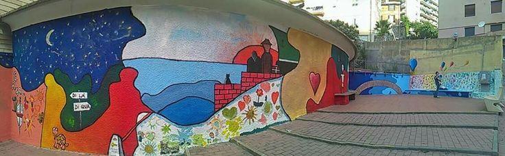 Murales nel quartiere genovese del Lagaccio, realizzato da Nicola soriani  e Enzo dente