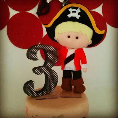 Fofuras da Vann ...: Topo de Bolo Pirata