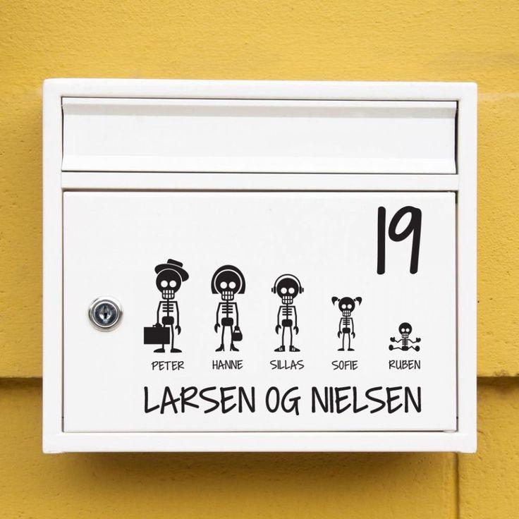 Skeletter postkasse sticker / Mailbox stickers