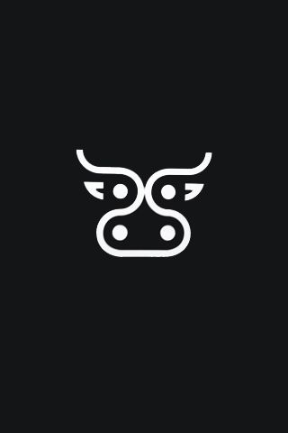 Abstract Cow Logo iPhone Wallpaper | Find more: www.pinterest.com/AnkApin/wallpapers