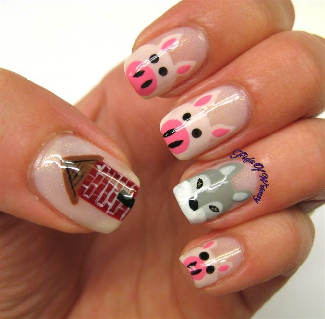 3 little pigs - Nail Art Gallery - The 25+ Best Pig Nails Ideas On Pinterest Pig Nail Art, Animal