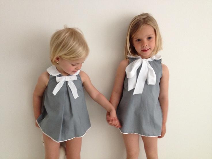 vestido gris piedra, bebé y niña  www.macali.es