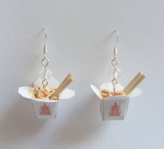 Food Jewelry Chinese Noodles Take Out Miniature Food by NeatEats