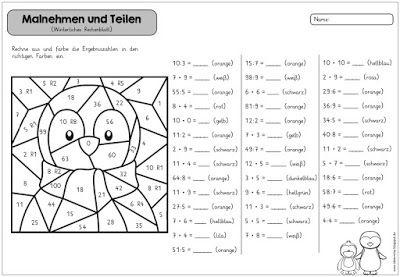 rechenmalblatt malnehmen und teilen ideenreise schule rechnen ideenreise und mathematik 3. Black Bedroom Furniture Sets. Home Design Ideas