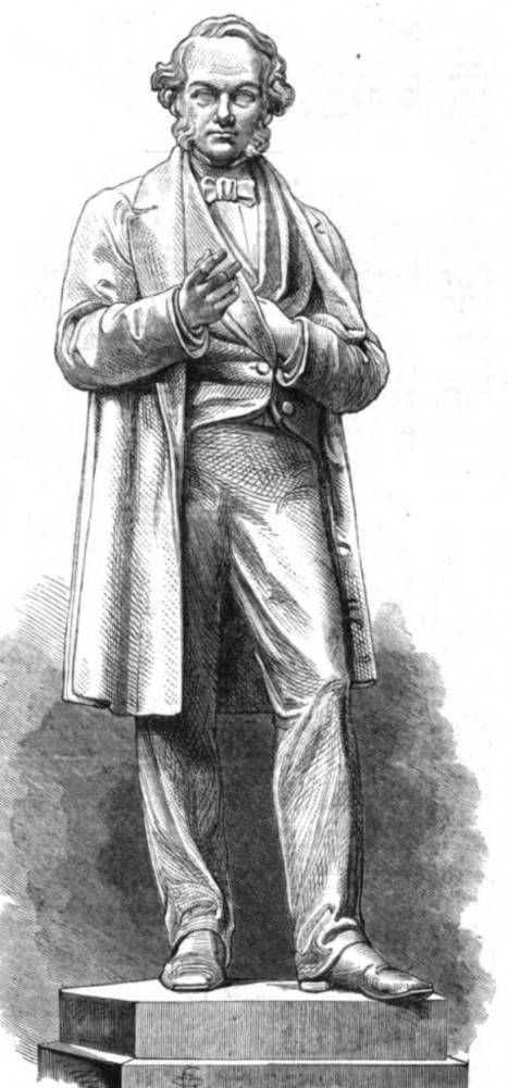Richard Cobden by Marshall Wood. 1867. Image from the 1867 Illustrated London News