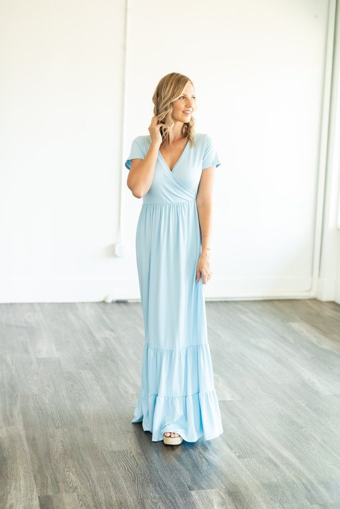 e6a55d5ac7 The Ceres Solid Maxi in Powder Blue (Sizes S-3X) – Wren   Ivory