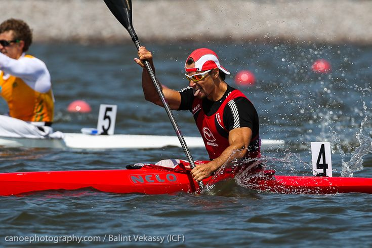Adam Van Koeverden Canadian competing in Canoe/Kayak - Flatwater. Three-time Olympic medalist and one of Canada's most recognized athletes at the 2012 London Games.