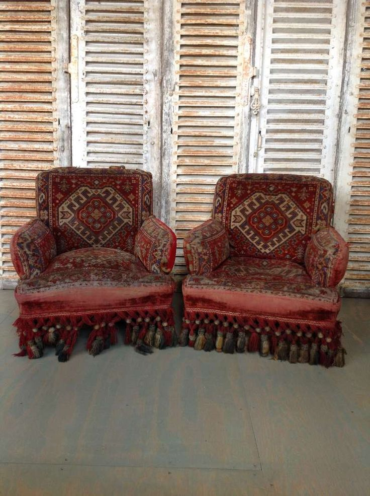 Pair Napoleon III Armchairs With Tapestry Fabric 2