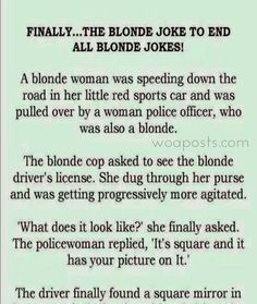 FINALLY…THE BLONDE JOKE TO END ALL BLONDE JOKES!(LOL)#funny